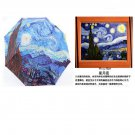 Van Gogh Oil Painting Umbrella Recreative Three-fold Umbrella for Sunny and Rain
