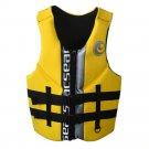 L004 L010 L011 Life Jacket Surfing Fishing Drifting Vest   yellow  S