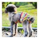 Rainbow Design Dog Suspender Physiological Pants 12#