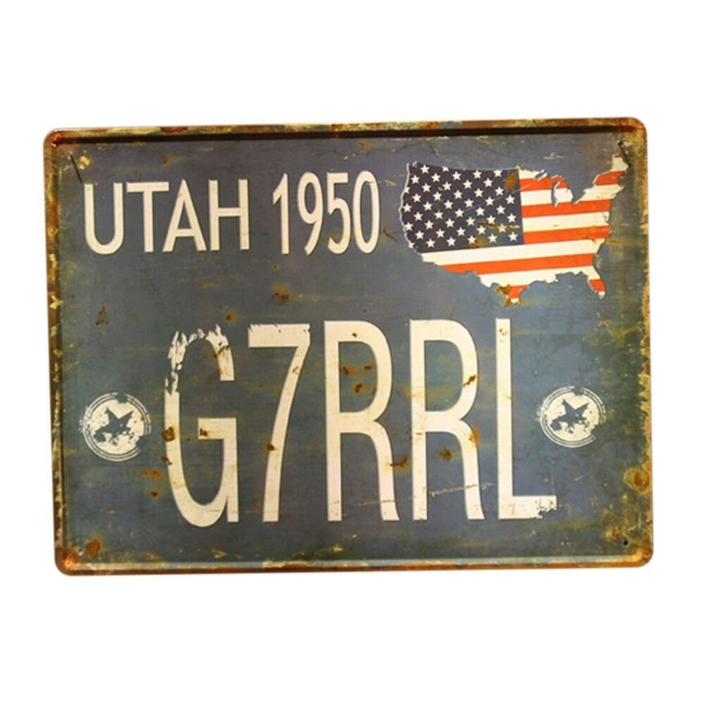 Europe Vintage Iron Car Plate Wall Hanging Decoration    T55