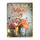 Europe Vintage Iron Car Plate Wall Hanging Decoration    A19