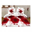 3D Flower Bed Quilt/Duvet Sheet Cover 4PC Set Cotton Sanded 032