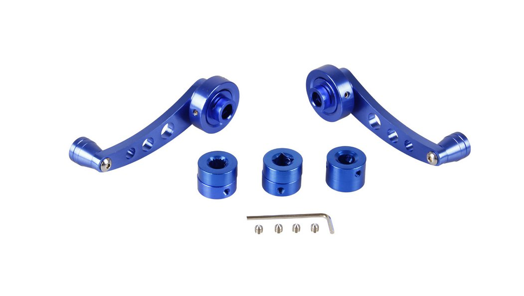 Car Door Handle Cranks Window Winders  and Adapters Blue
