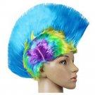 Shiny Cockscomb Hair Punk Hair Cap Bright Wig shiny rainbow sky blue