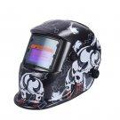 Auto Arc Welder Helmet with Quality Foam Headstrap & Fierce Skull Graphic Design