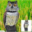 Owl Scarecrow Decoy Scare Garden Horned Pest Great Crow Owl Bird Scare Repellent