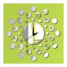Mirror Wall Clock 3D Decoration Circle