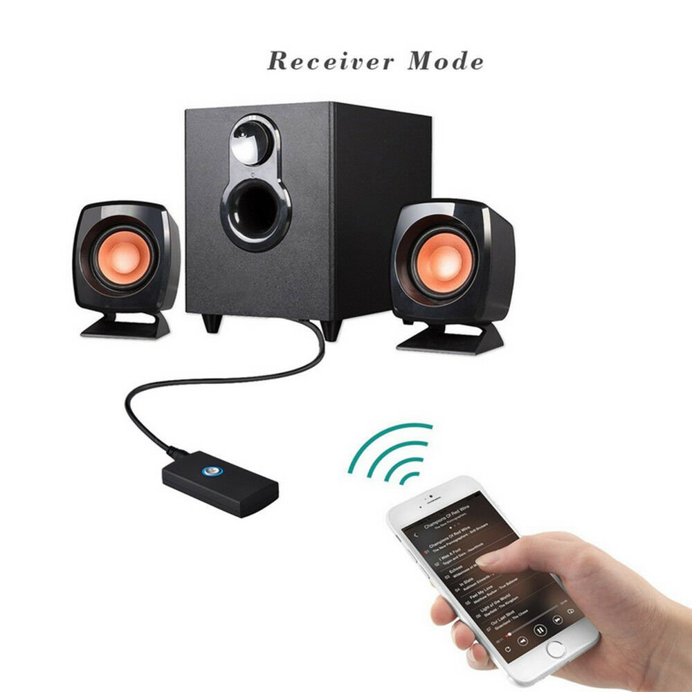 Bluetooth Stereo Transmitter and Audio Receiver 2-In-1
