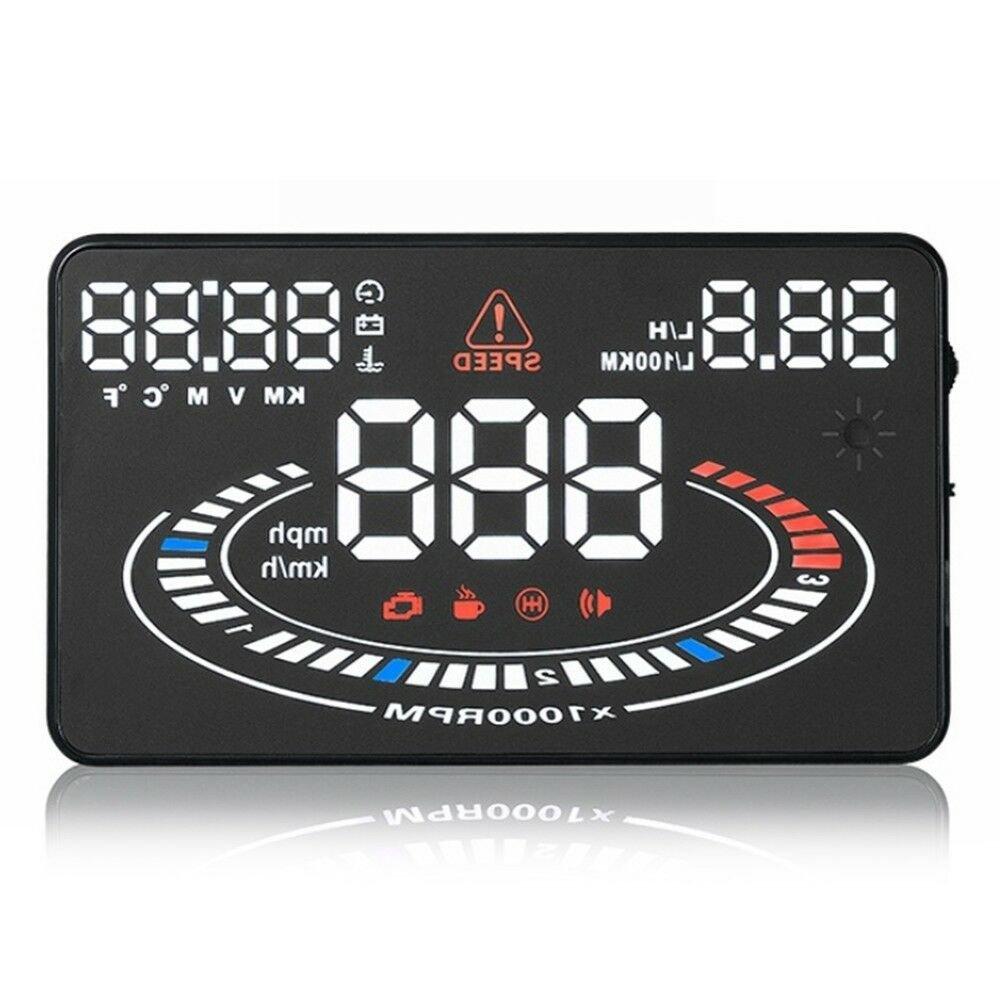 "5.5"" E300 HUD Head Up Display Car OBD2 OBDII Speed Warning Projector"