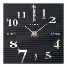 Creative Wall Clock Simple Silent DIY Mirror    silver