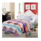 Two-side Blanket Bedding Throw Coral fleece Super Soft Warm Value 180cm 34
