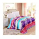 Two-side Blanket Bedding Throw Coral fleece Super Soft Warm Value 200cm 22