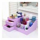 Drawer Type Organizer Comestics Sotrage Box Purple