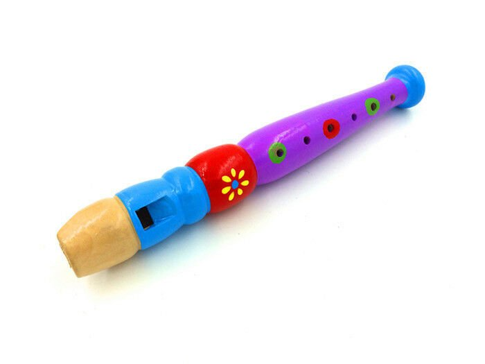 Cartoon wooden flute wooden flute children wind instrument piccolo infant toys