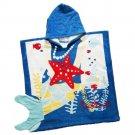 Bathrobe Child Cartoon Bath Beach Towel Long     sea fish tail