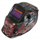 Auto Darkening Welding Lens with Quality Multi Color Shiny Skull Graphics & LCD