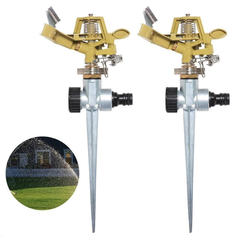 2pcs Garden Sprinkler Pulsating Impulse Spike