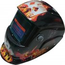 Automatic Welding Mask in Excellent Black Glossy Designer Playing Card Graphics