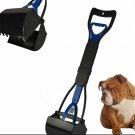 """Pooper Scooper Dog Pet Waste  Remover  Pick Up Waste 24"""" Long Handle Blue Color"""