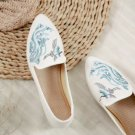 Chinese  Vintage Ethnic Embroidery Ballet Flat Marry Janes Dancing Shoes  Crane