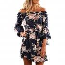 Floral off-the-shoulder boutique mini dress