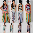 Sexy Boho Side Split Maxi Long Dress 4 colors tropical style Summer