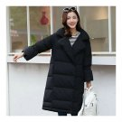 Middle Long Down Coat Woman Casual Coat   black