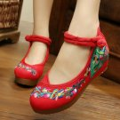 Chinese Ethnic Embroidery Inner high Heel Elevator Cheongsam Dress Shoes FANS