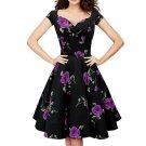 Vintage Heoburn Style Boob Tube Top Frill Dress  purple