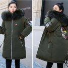 Women New Fashion Winter  Down Cotton Coat fuax Fur Collar