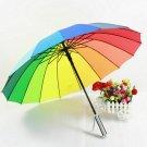 New Rainbow Umbrella with Straight Shank Wedding Party Favor