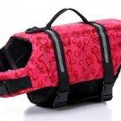 Dog life Jacket Safer Vest Swimming Jacket Flotation Float Jacket red bone