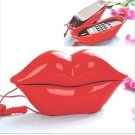 Novelty Red Lips Kiss Retro Sexy Corded Kitsch Telephone Decoration G