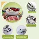 304 stainless steel thick mandarin duck pot S pan with lid for steam pot