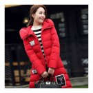 Winter Super Long Down Coat Woman Thick Slim Hooded   red