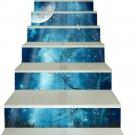 New 3D DIY PVC Waterproof  Stair Decals Wall  Floor Moonlights  Sticker qs016