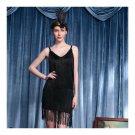 Sexy Woman Refinement Uniform Underwear Tassel Dress Halloween    black