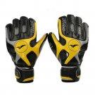 Latex Goalkeeper Gloves Roll Finger Non-slip Breathable    black yellow