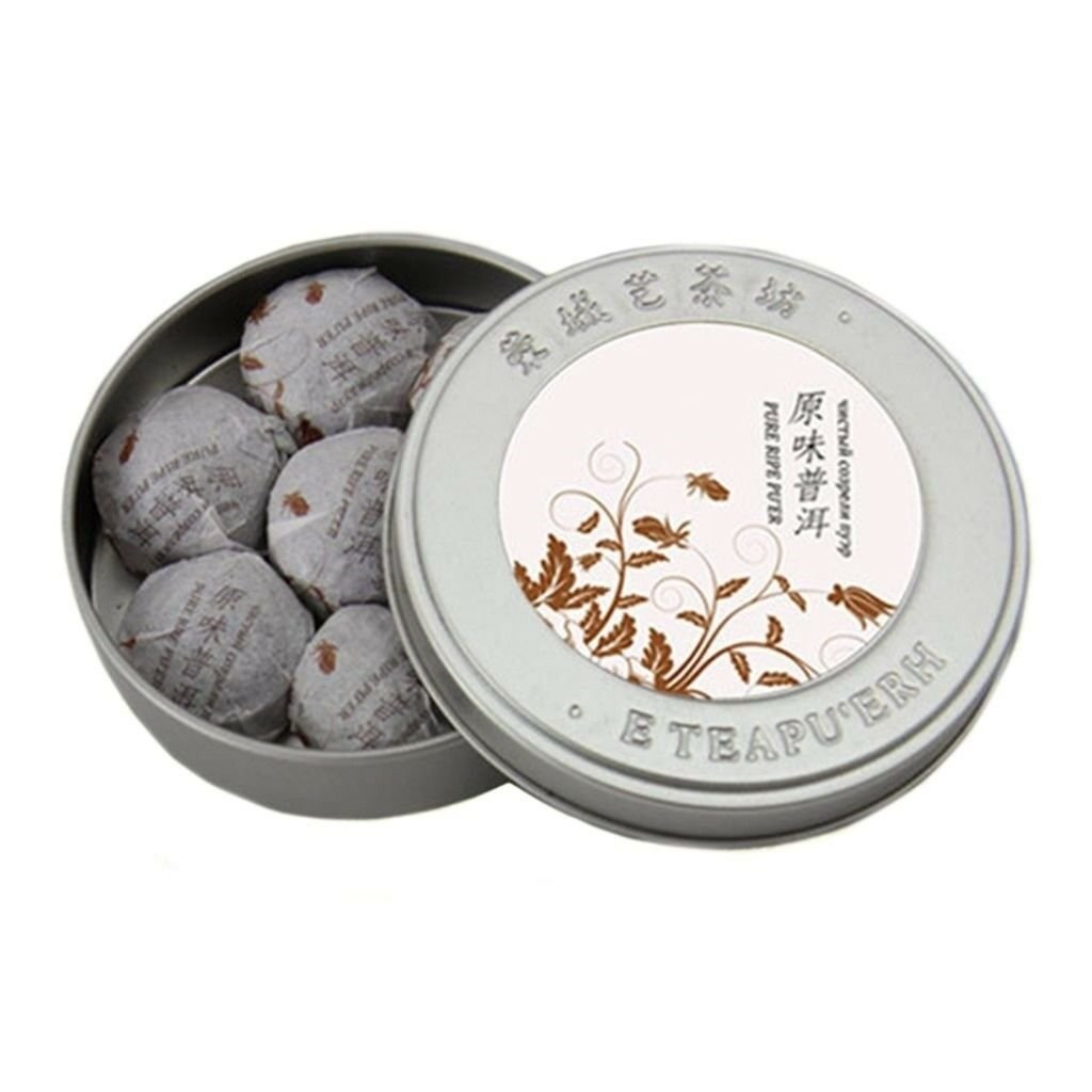 Puer Tea Small Mini Original Flavor Iron Box 35g