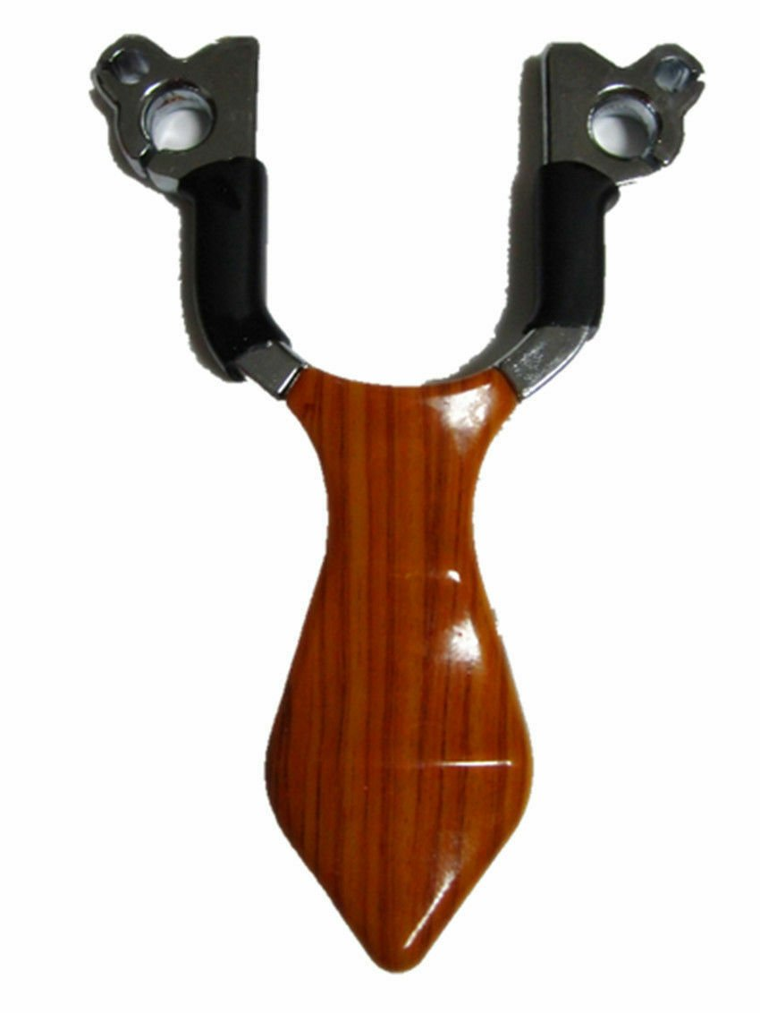 Powerful Steel Catapult Slingshot  Outdoor Game Hunting Sniper wood style