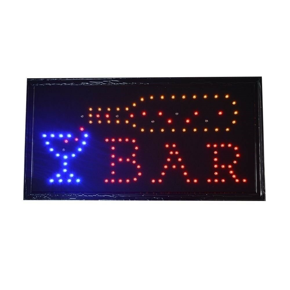 Bar Pub Sign Neon Lights LED Animated Customers Attractive Sign  110V