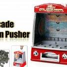 Novelty Mini Arcade Fairground Coin Pusher  Game Replica Penny Pusher  Children