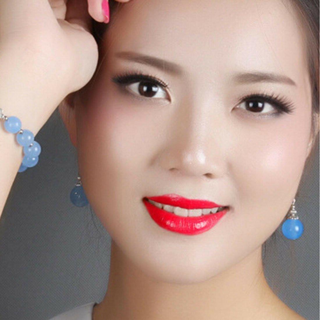 Original DIY Design Miao Silver Nepal Chalcedony Vintage Long Earring Woman
