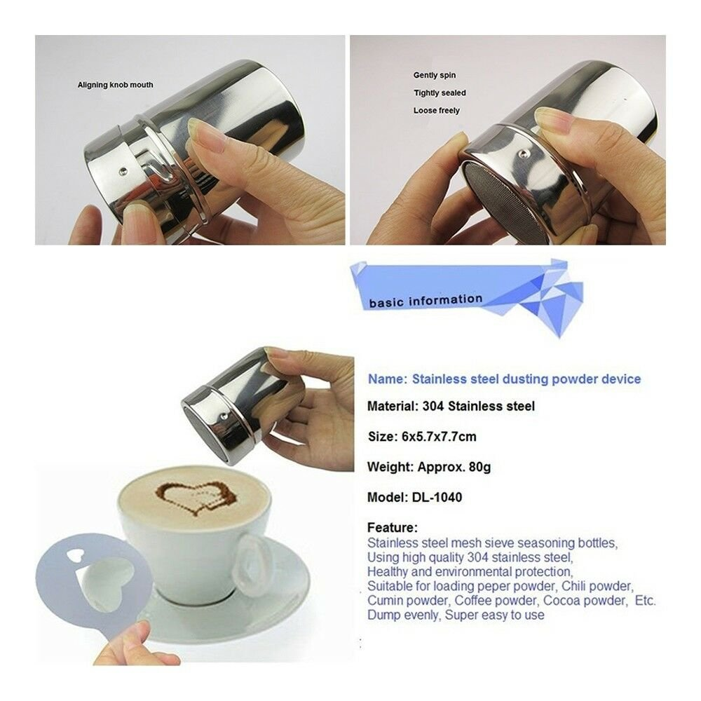 Stainless Steel Dusting Powder Device