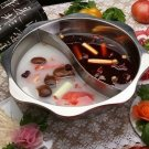 Thick stainless steel sun two-flavor hot pot eight-angle hot pot Soup Cooker