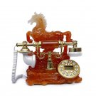 Vintage Antique Retro Caller ID Handset Desk Jade Telephone Hand free Horse red