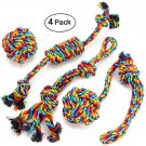 4 Pack Rope Dog Toys Tough Lot Chew Dog Toy for Aggressive Chewers and Ball