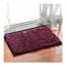 Chenille Carpet Non-slip Ground Door Mat  dark purple   40*60cm