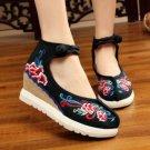 Chinese Ethnic Embroidery Inner high Heel Elevator Cheongsam Dress Shoes Flyfish