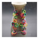 National Style Long Earrings Creative Long Costume Circles   04